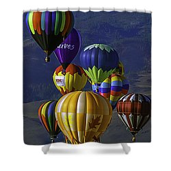 Balloons Over Reno Shower Curtain by Dorothy Cunningham