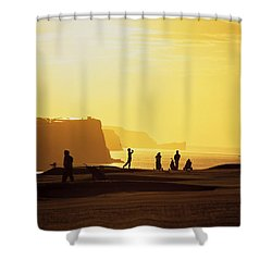 Ballycastle Golf Club, Co Antrim Shower Curtain by The Irish Image Collection