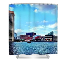 Baltimore's Inner Harbor Shower Curtain