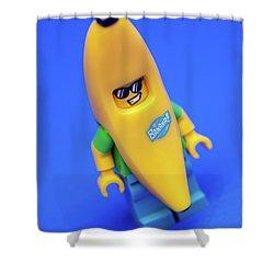 Banana Man Shower Curtain by Samuel Whitton