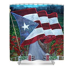 Bandera De Puerto Rico Shower Curtain