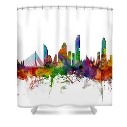 Bangkok Thailand Skyline Shower Curtain