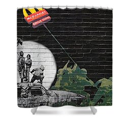 Banksy - The Tribute - New World Order Shower Curtain