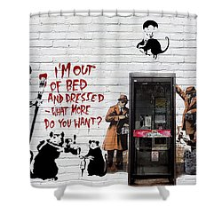 Banksy - The Tribute - Rats Shower Curtain