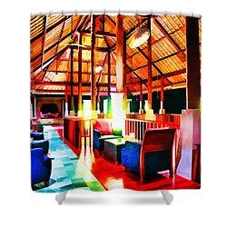 Bar Bedulu Shower Curtain by Lanjee Chee