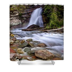 Baring Falls Shower Curtain by Jack Bell