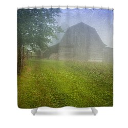 Barn In The Hay Field Shower Curtain