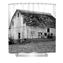 Barn On The Hill Bw Shower Curtain by Julie Hamilton