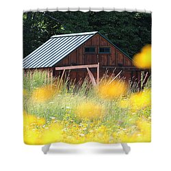 Barn Stony Brook New York Shower Curtain by Bob Savage
