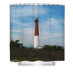 Barnegat Lighthouse - New Jersey Shower Curtain by Bill Cannon
