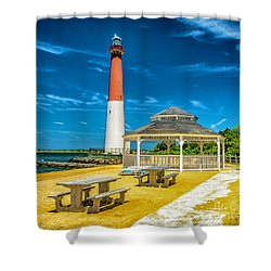Shower Curtain featuring the photograph Barnegat Lighthouse Park by Nick Zelinsky