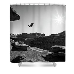 Base Jumper Shower Curtain