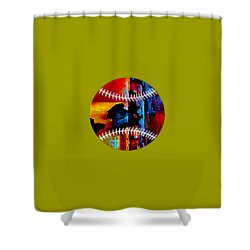 Baseball Collection Shower Curtain by Marvin Blaine