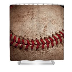Shower Curtain featuring the photograph Baseball Seams by David Patterson