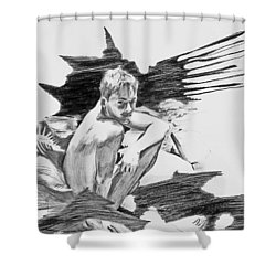 Shower Curtain featuring the painting Bathed In White Light by Rene Capone