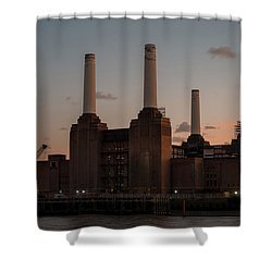 Shower Curtain featuring the photograph Battersea Power Station by Stewart Marsden