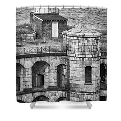 Shower Curtain featuring the photograph Battery Weed At Fort Wadsworth Nyc by Susan Candelario