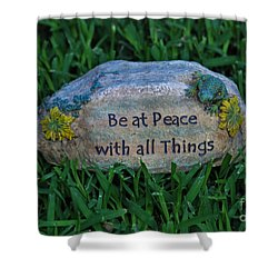 Shower Curtain featuring the photograph 1- Be At Peace by Joseph Keane