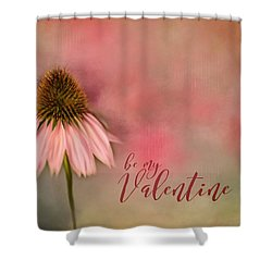 Be My Valentine Shower Curtain by Mary Timman
