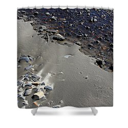 Shower Curtain featuring the photograph Beach Rocks 3 by Joanne Coyle