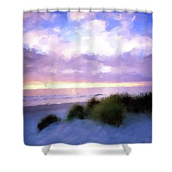 Beach Sawgrass Shower Curtain