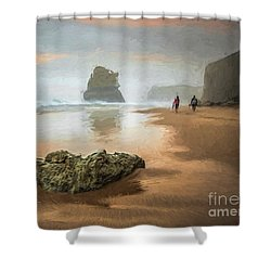 Beach Stroll Shower Curtain