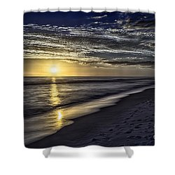 Beach Sunset 1021b Shower Curtain