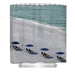 Shower Curtain featuring the photograph Beach Therapy 1 by Marie Hicks