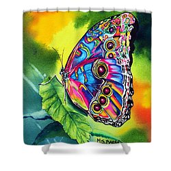 Beatrice Butterfly Shower Curtain