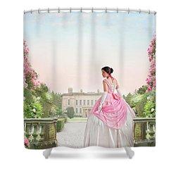 Beautiful Victorian Woman In The Garden Shower Curtain