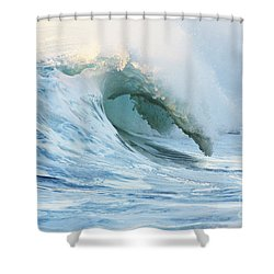 Beautiful Wave Breaking Shower Curtain by Vince Cavataio - Printscapes