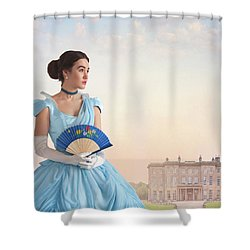 Beautiful Young Victorian Woman Shower Curtain by Lee Avison