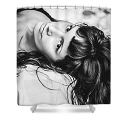 Bed Portrait  Shower Curtain