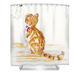 Bee Entranced Shower Curtain