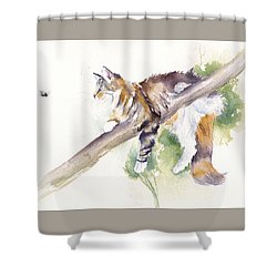Bee High Shower Curtain