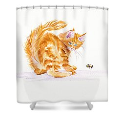 Bee Wary Shower Curtain