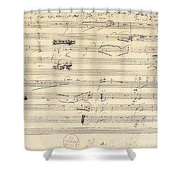 Beethoven Manuscript, 1826 Shower Curtain by Granger