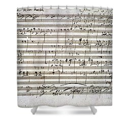Beethoven Manuscript Shower Curtain
