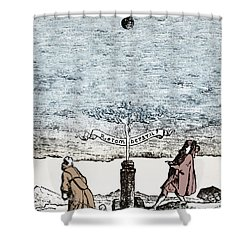 Behavior Of Falling Bodies Shower Curtain by Omikron
