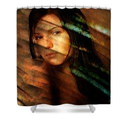 Behind The Curtain Shower Curtain by Gun Legler