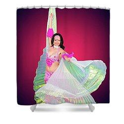 Belly Dancer  Shower Curtain by Ilan Rosen