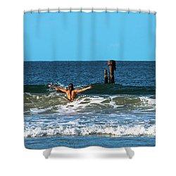 Belongil Beach Shower Curtain