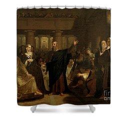 Belshazzar's Feast Shower Curtain by Washington Allston