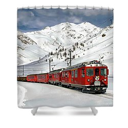 Bernina Winter Express Shower Curtain
