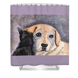 Best Friends Shower Curtain by Angela Davies