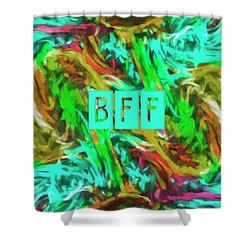 Shower Curtain featuring the photograph Best Friends Forever by Bonnie Bruno