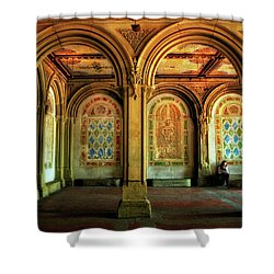 Shower Curtain featuring the photograph Bethesda Terrace Arcade by Jessica Jenney