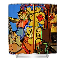 Shower Curtain featuring the photograph Betty Boots by Skip Hunt