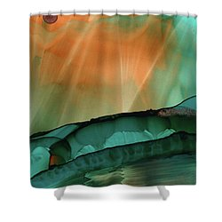 Beyond The City Lights Shower Curtain