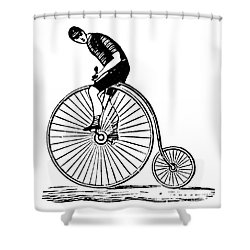 Bicycling Shower Curtain by Granger